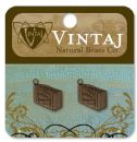 Vintaj Natural Brass Co. Jewelry Findings - Journey Case 16.5 X 10mm